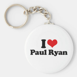 I LOVE PAUL RYAN (2).png Basic Round Button Key Ring
