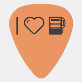 I Love Payphone Booths Guitar Pick