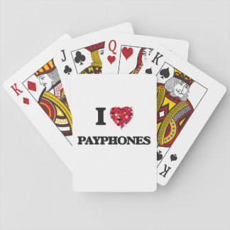 I love Payphones Playing Cards