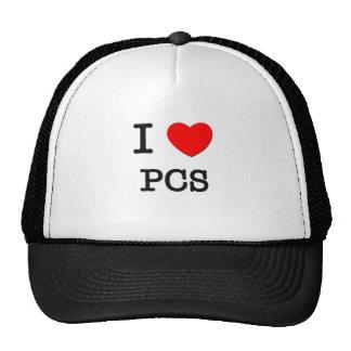 I Love Pcs Trucker Hats