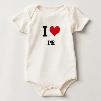 I Love Pe Baby Bodysuit