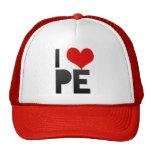 I Love PE Hats