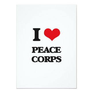 I Love Peace Corps 13 Cm X 18 Cm Invitation Card