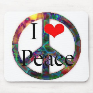 I Love Peace Mouse Mat