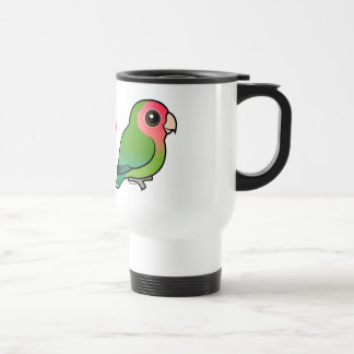 I Love Peach-faced Lovebirds Travel Mug