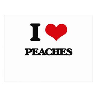 I Love Peaches Post Card