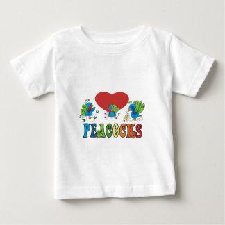 I Love Peacocks Baby T-Shirt