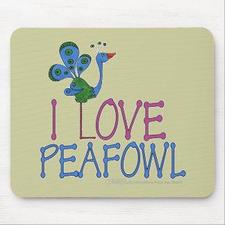 I Love Peafowl Mousepads