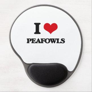 I love Peafowls Gel Mouse Mats