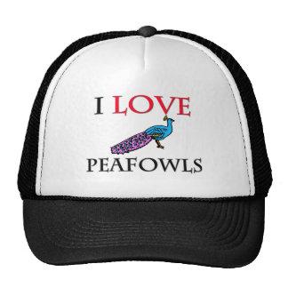 I Love Peafowls Mesh Hat