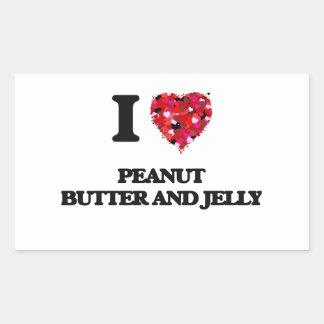 I love Peanut Butter And Jelly Rectangular Sticker
