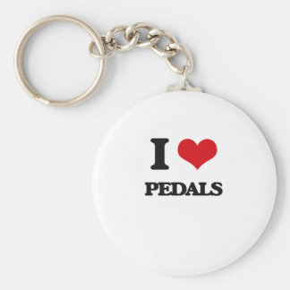 I Love Pedals Keychain