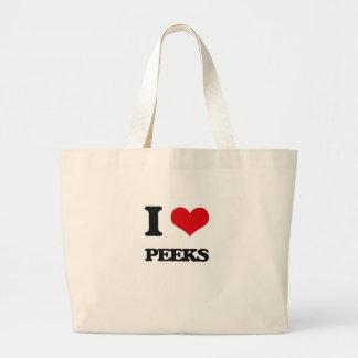 I Love Peeks Canvas Bags