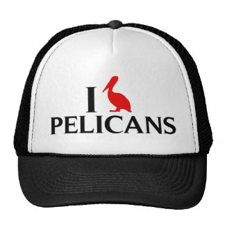 I Love Pelicans Trucker Hat