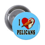 I Love Pelicans T-shirts, Kids Apparel Button