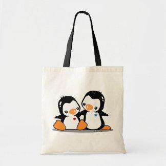 I Love Penguins Budget Tote Canvas Bag
