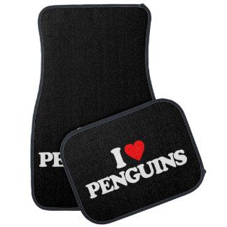 I LOVE PENGUINS CAR MAT