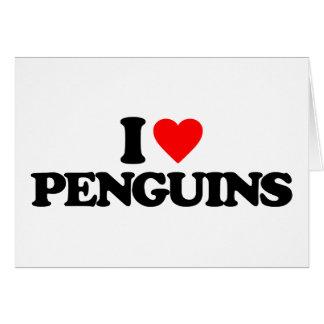 I LOVE PENGUINS GREETING CARDS