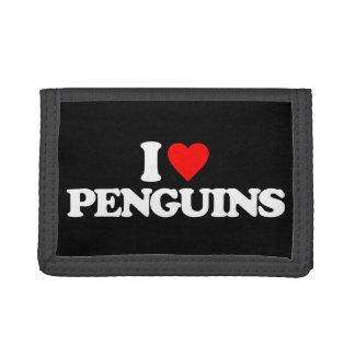 I LOVE PENGUINS TRI-FOLD WALLET