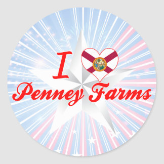 I Love Penney Farms, Florida Round Sticker