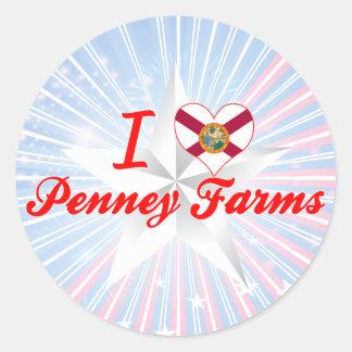 I Love Penney Farms, Florida Round Sticker
