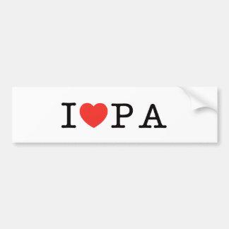 I LOVE Pennsylvania Bumper Sticker