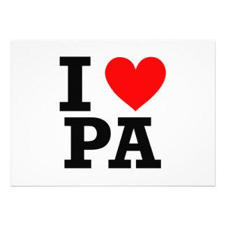 I Love Pennsylvania Design Custom Invitations