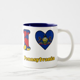 I love Pennsylvania Two-Tone Coffee Mug