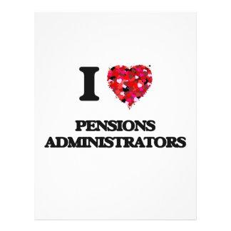 I love Pensions Administrators 21.5 Cm X 28 Cm Flyer