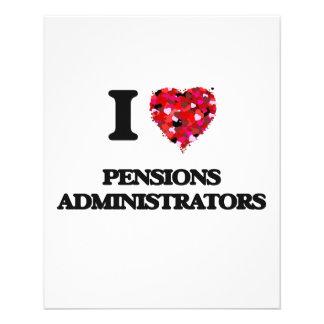 I love Pensions Administrators 11.5 Cm X 14 Cm Flyer