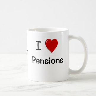 I Love Pensions and Pensions Heart Me! Basic White Mug