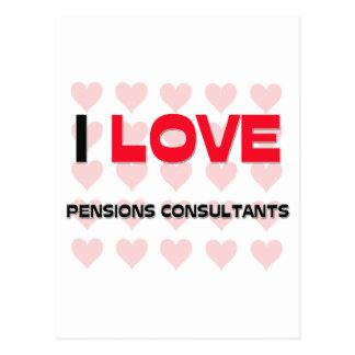I LOVE PENSIONS CONSULTANTS POSTCARD