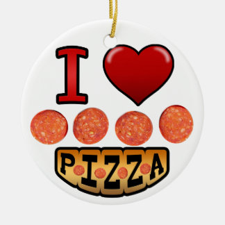 I love pepperoni pizza. christmas ornament