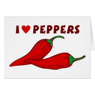 I Love Peppers Card