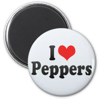 I Love Peppers Refrigerator Magnets