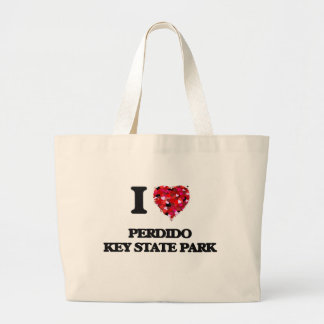 I love Perdido Key State Park Florida Jumbo Tote Bag
