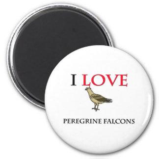 I Love Peregrine Falcons 6 Cm Round Magnet