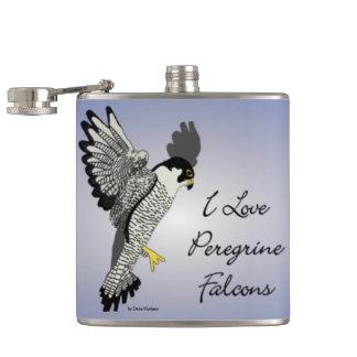 I Love Pererine Falcon Flask