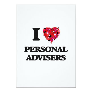 I love Personal Advisers 13 Cm X 18 Cm Invitation Card