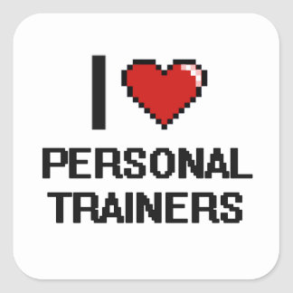 I love Personal Trainers Square Sticker