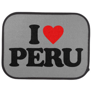 I LOVE PERU CAR MAT