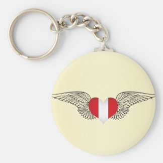 I Love Peru -wings Key Ring