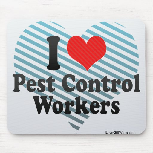 I Love Pest Control Workers Mouse Pad