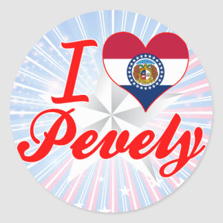 I Love Pevely Missouri Round Sticker