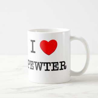 I Love Pewter Coffee Mug