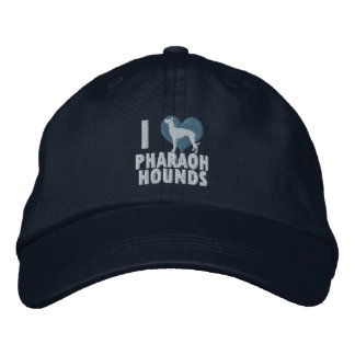 I Love Pharaoh Hounds Embroidered Hat Blue