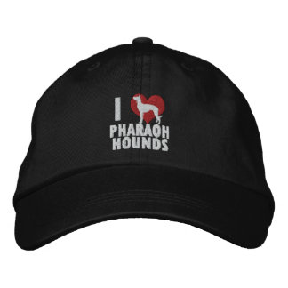 I Love Pharaoh Hounds Embroidered Hat Dark