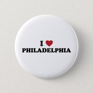 I Love Philadelphia Pennsylvania 6 Cm Round Badge