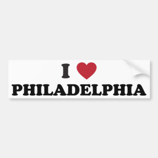 I Love Philadelphia Pennsylvania Bumper Sticker