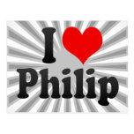 I love Philip Post Card